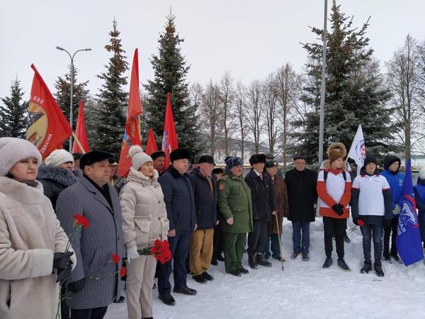 В Сарманово прошла акция, приуроченная к годовщине вывода советских войск из Афганистана